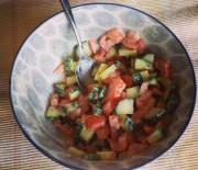 Cucumber Tomato Tahini Salad